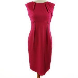 Calvin Klein Sleeveless Sheath Dress Pink Sz 4